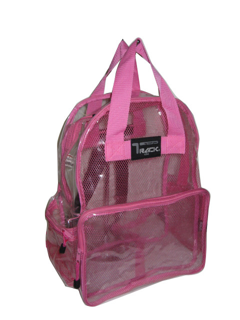 CLEAR Backpack Royal Pink TC001