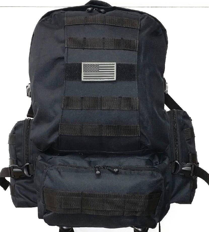 Military-Molle-Assault-Tactical-Backpack-Black-Large-Rucksack-Backpack-RT-508