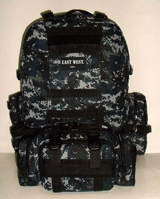 Military Molle Assault Tactical Backpack Navy Digital
