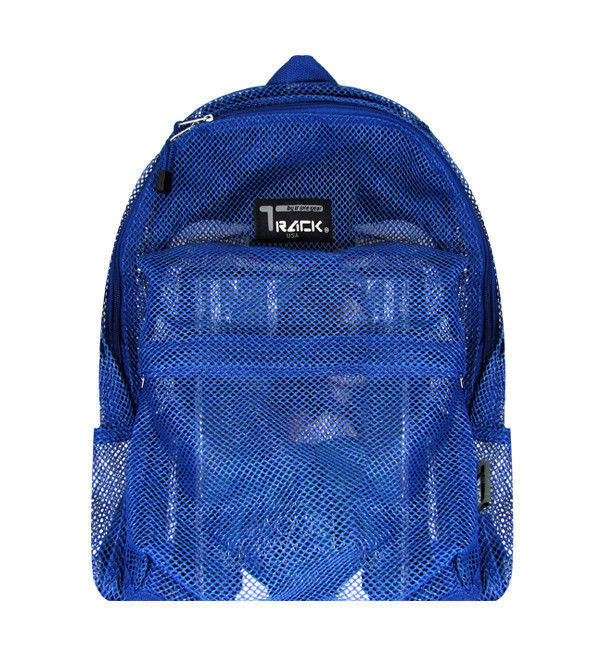 Royal Blue Mesh Backpack See Through