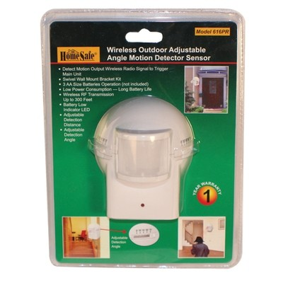 The OUTDOOR HOMESAFE WIRELESS HOME SECURITY MOTION SENSOR