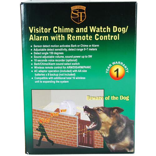 Multi function chime, panic or barking dog alarm system