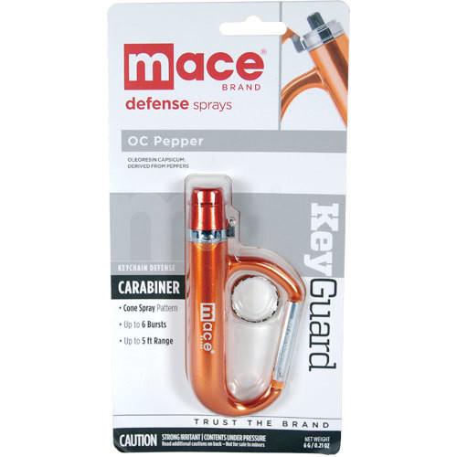KeyGuard Carabiner Pepper Spray Orange