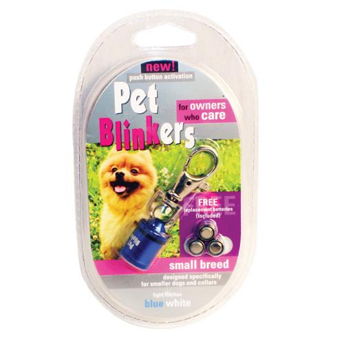 Blue & White Pet Blinker Pet Safety Light