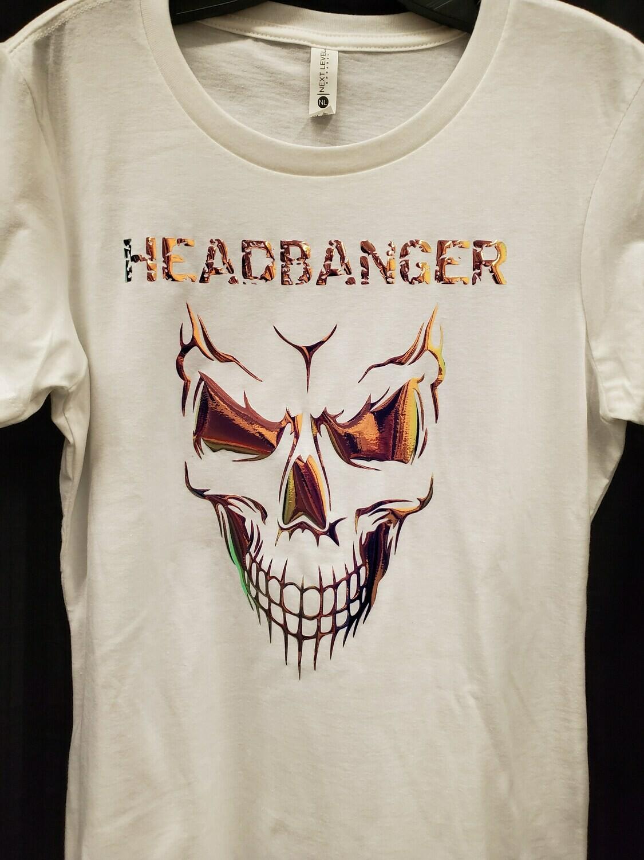 Headbanger Smiling Skull Women's T-Shirt