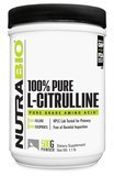 NutraBio Citrulline Powder 500 Grams