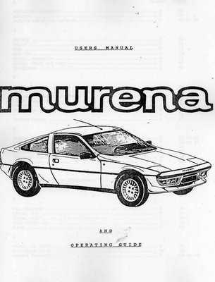 Murena Driver's Manual English Translation