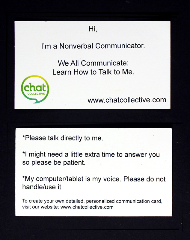 Communication Cards - pack of 25