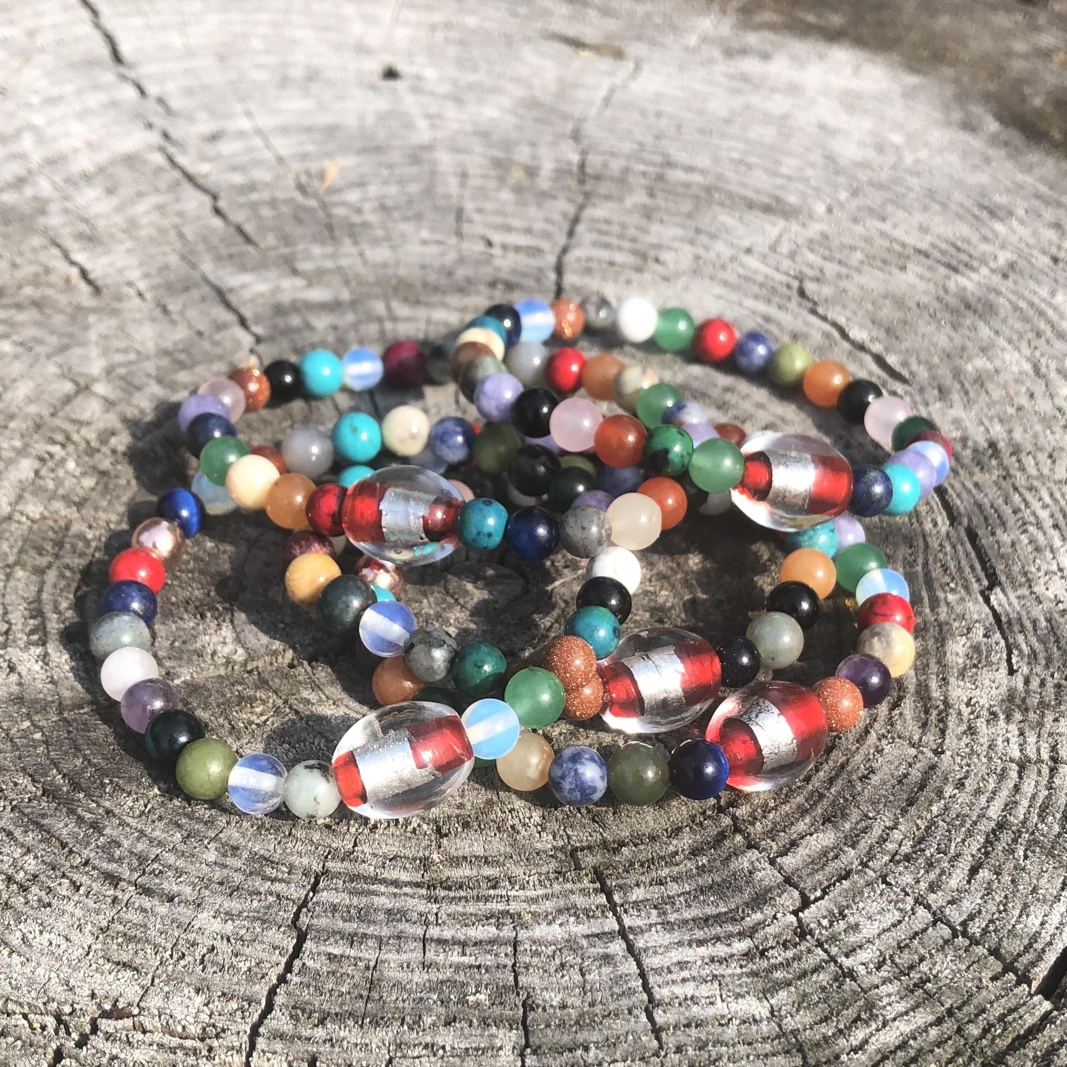 Lucky Fin Bracelet- Semiprecious stone *LIMITED EDITION *
