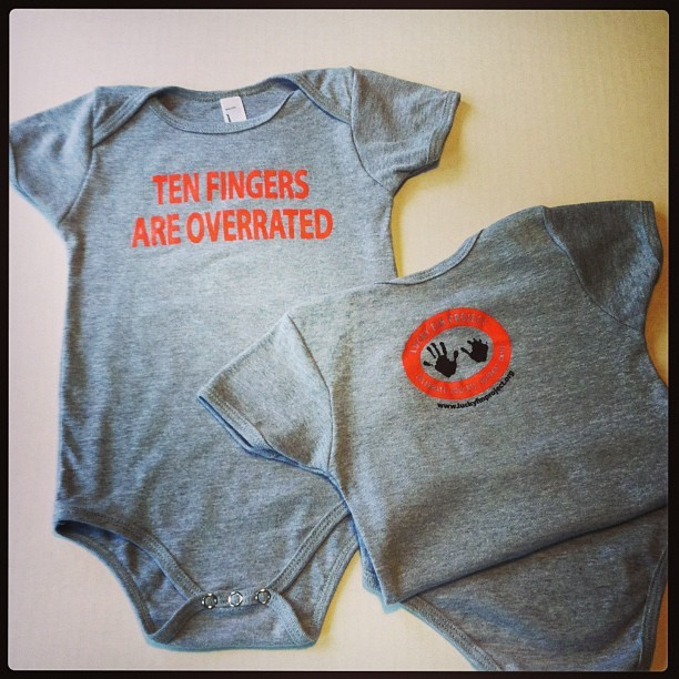 Ten Fingers Are Overrated-Baby Onesie TFAO-Onesie