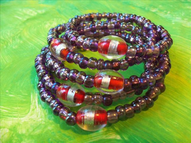 Lucky Fin Bracelet-Purple LFB-Purple