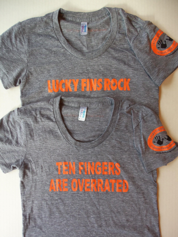 """Women's Cut """"Lucky Fins Rock"""" T-Shirt LFR-Womens"""