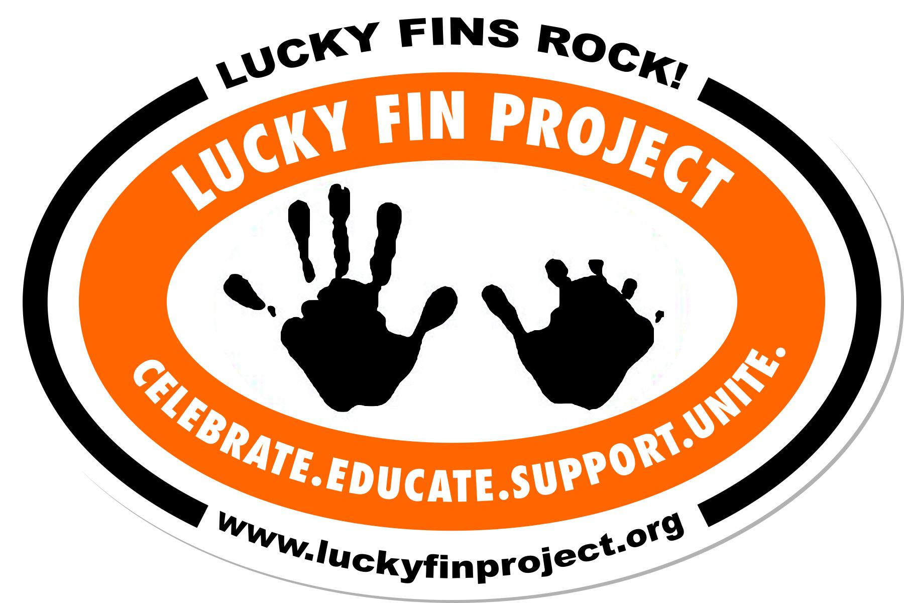 Lucky Fin Project Logo 4 x 6 Oval Bumper Magnet LFP-Magnet