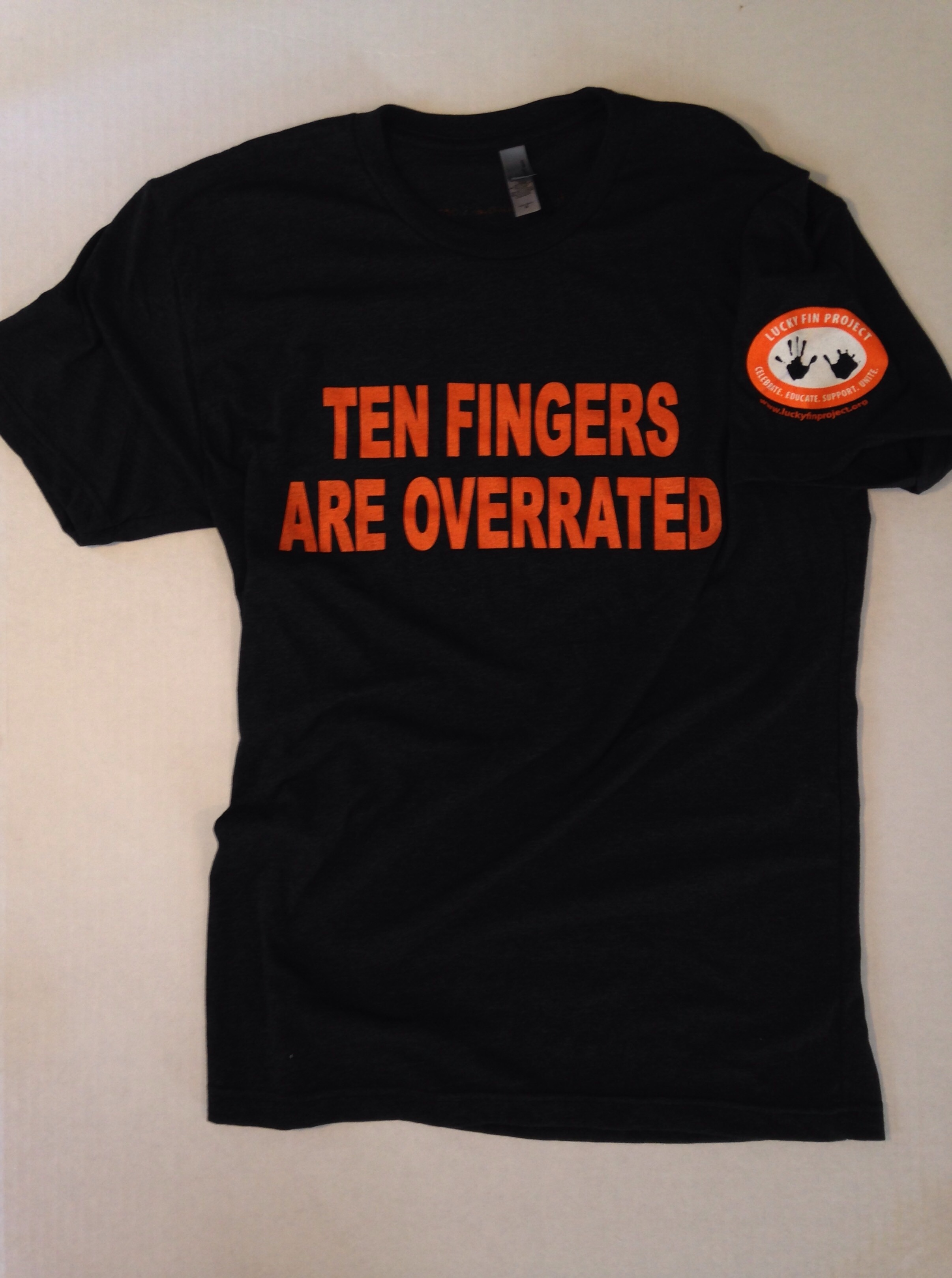 """*Limited Edition* Unisex """"Ten Fingers Are Overrated"""" T-shirt BLKTFAO- Unisex"""
