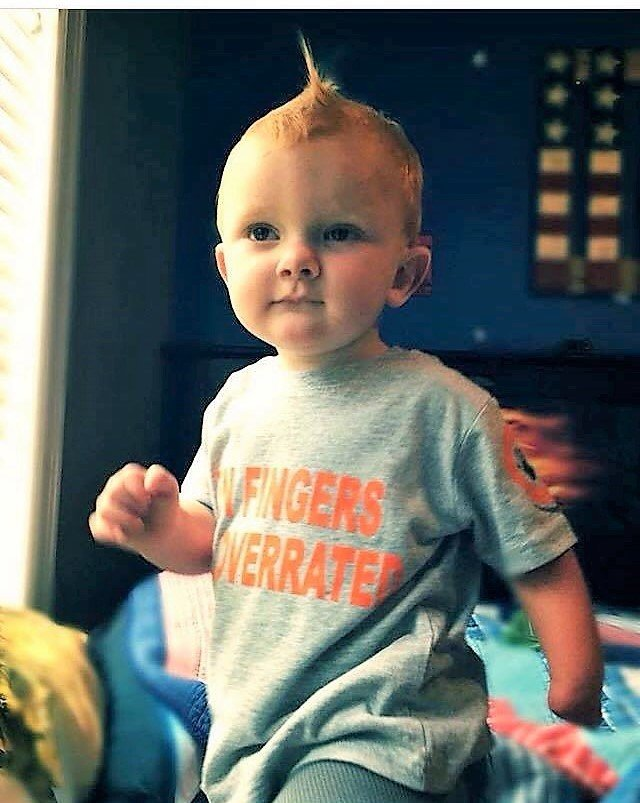 """Youth """"Ten Fingers Are Overrated"""" T-Shirt"""