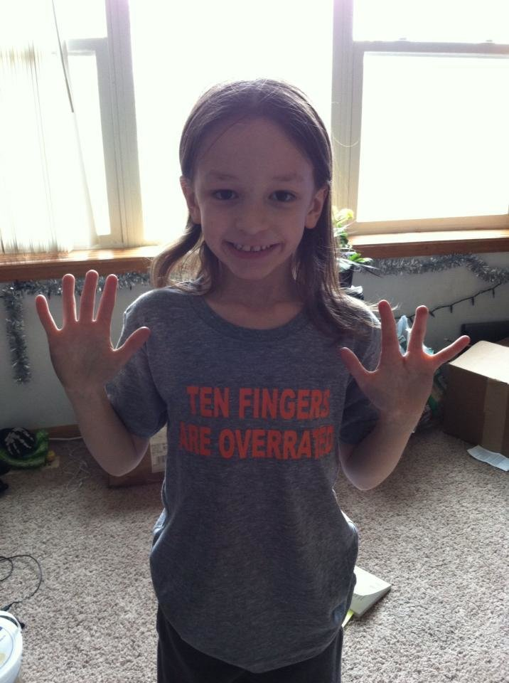 "Youth ""Ten Fingers Are Overrated"" T-Shirt"