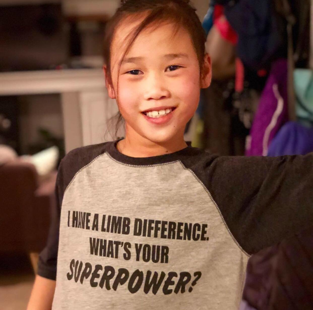 "Youth ""What's Your Superpower?""  3/4 Sleeve YSUPWR"