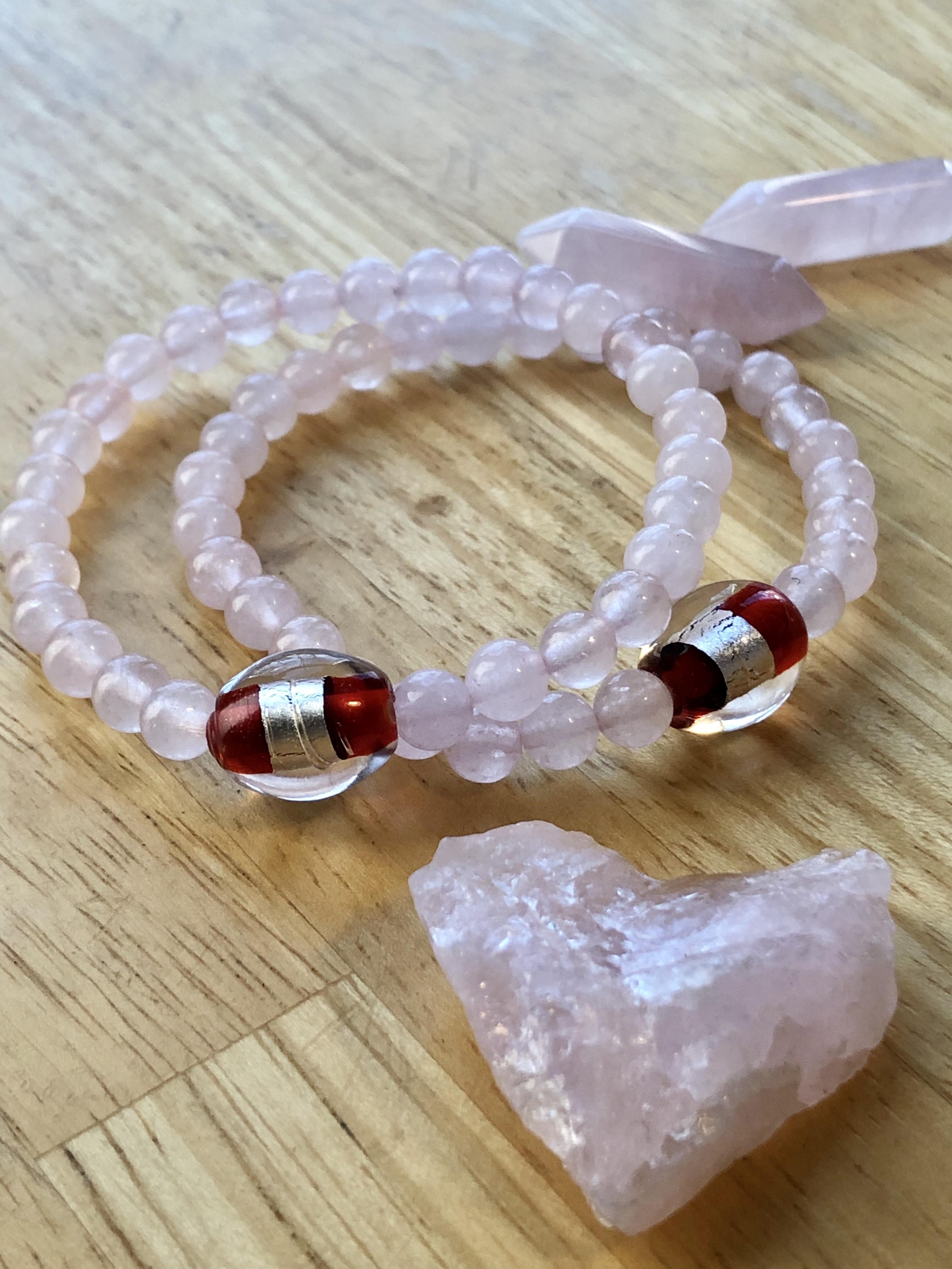 Lucky Fin Bracelet-Rose Quartz *LIMITED EDITION * LFP- RQU