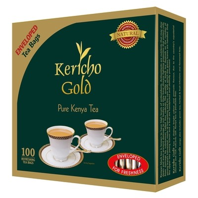 Kericho gold enveloped tea bags from Kenya-100TBS