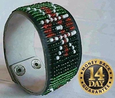 Masai/Maasai leather beads bracelet(A0009)