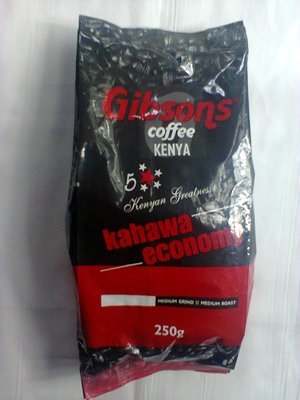 Gibsons ground coffee 250Gms from Kenya