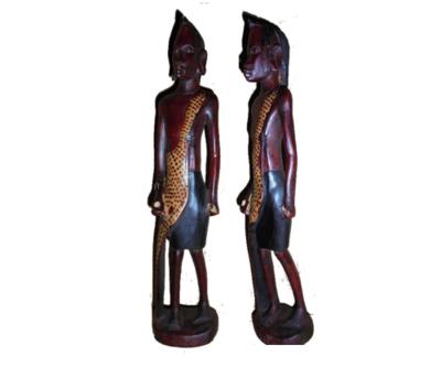 Masai warrior Moran sculptures