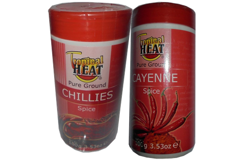 Tropical Heat Pure Ground Chillies-cayenne Spices 2 x 100gms