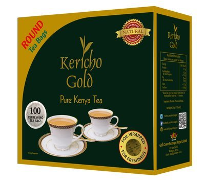 Kericho gold round tea bags from Kenya-100TBS