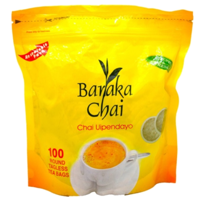 Baraka Chai round tea bags from Kenya-100TBS