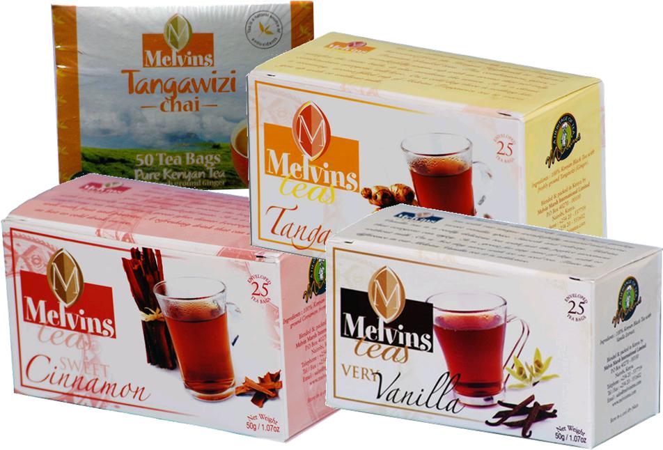 Melvins flavored tea from Kenya-3 x 50TBS