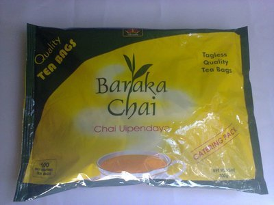 Baraka Chai catering pack-100 tagless tea bags