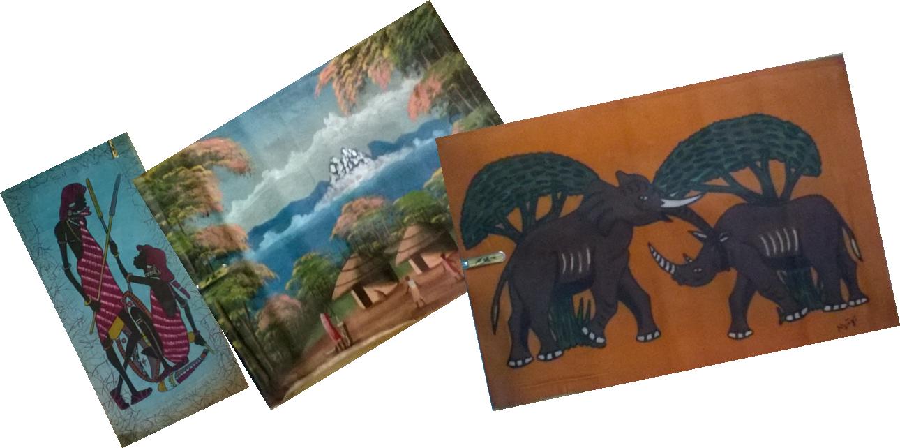 Kenya Masai oil painting-MP002