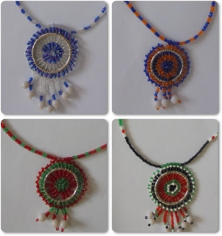 3 pieces Masai beads necklaces-MBN001