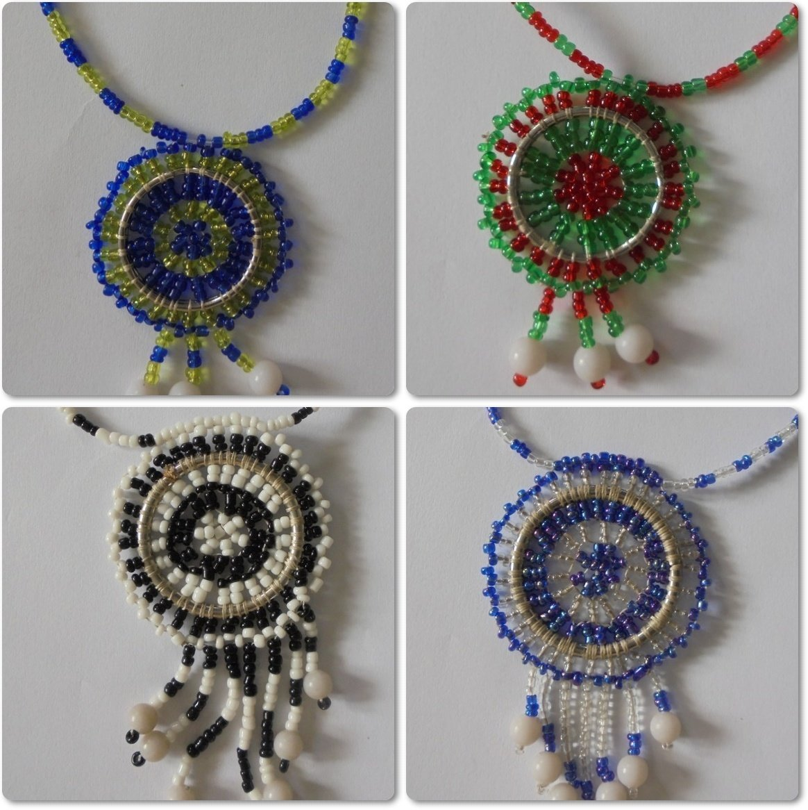 4 pieces Masai beads necklaces-MBN006