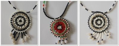 3 pieces Masai beads necklaces-MBN007