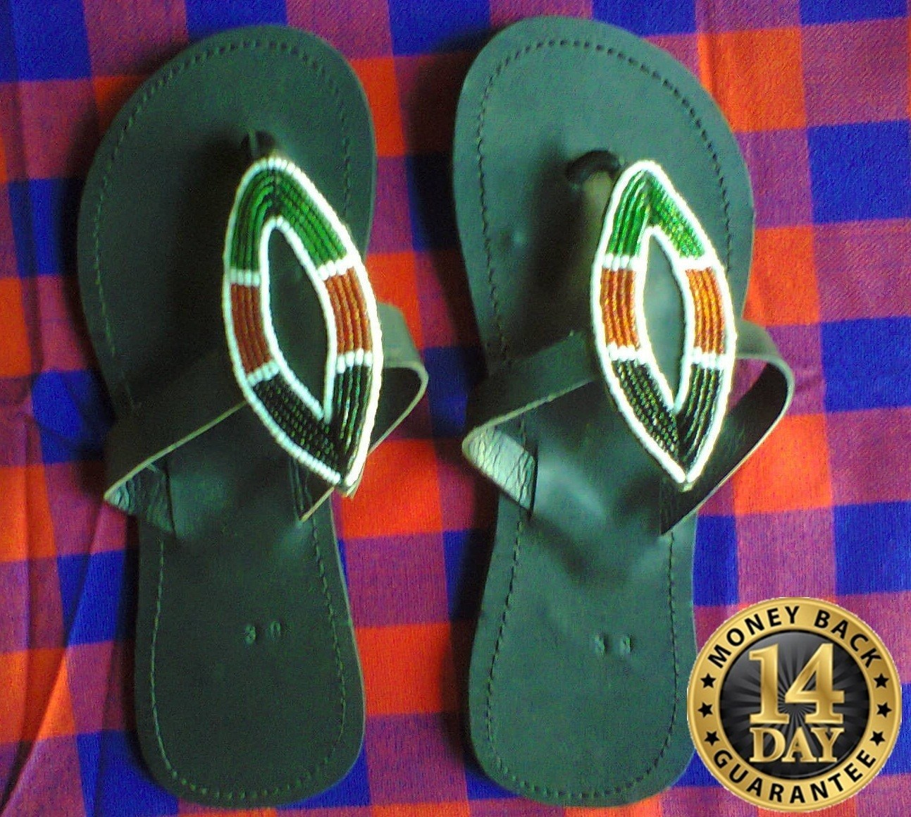 Kenya sandals-U.S SIZE 7.0,U.K5.0,EUR37-38 Beaded Women sandals