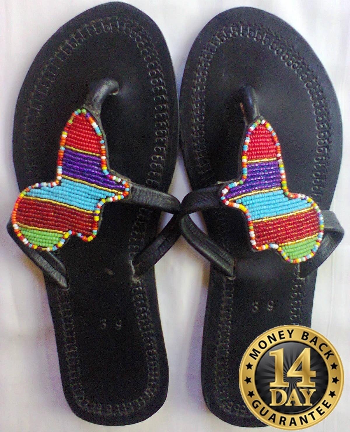 Authentic Masai sandals-women beaded sandals U.S size 9.5