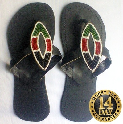 Masai women beaded rubber sandals-Very stylish and unique