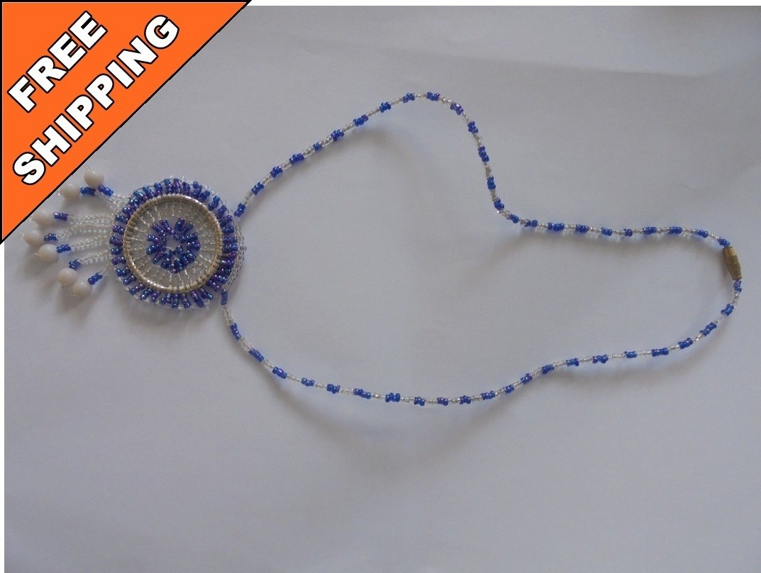 Blue Masai beads necklace