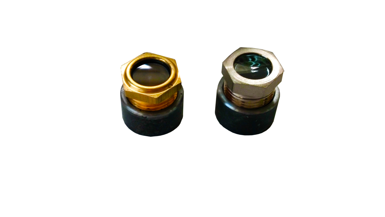 Peep Fuel Sight Window (Brass or Nickel)