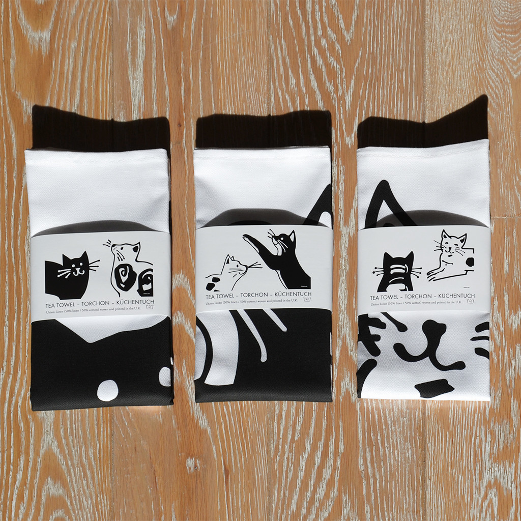 CAT TEA TOWELS ABC – TORCHONS ABC – KÜCHENTÜCHER ABC