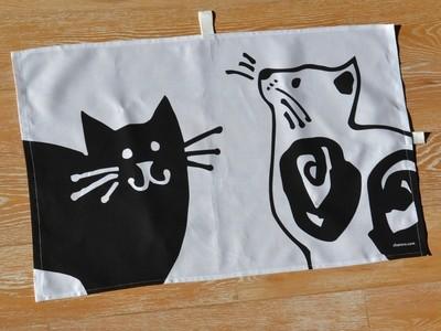 CAT TEA TOWEL A – TORCHON A – KÜCHENTUCH A