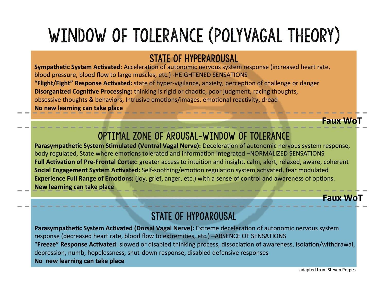 Window of Tolerance (Polyvagal Theory)