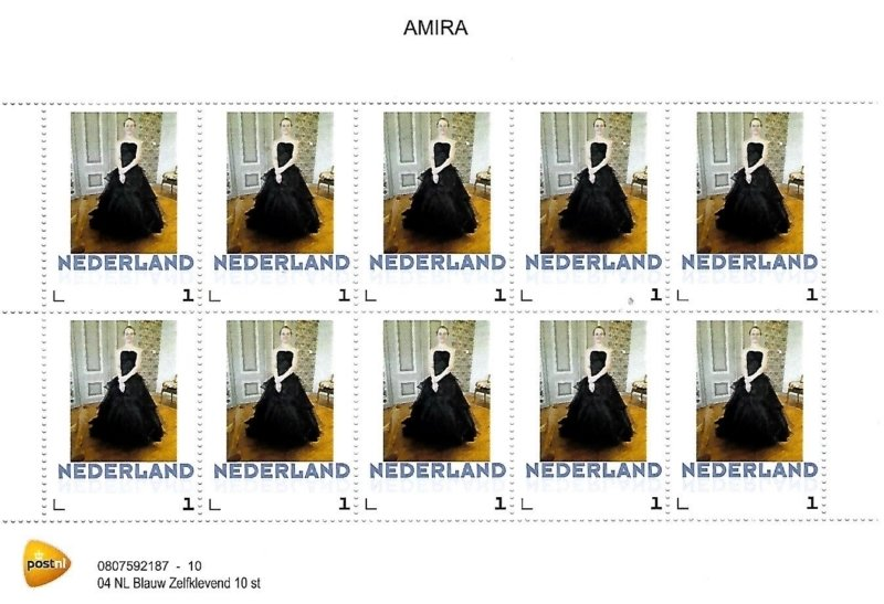 10 Amira design postzegels / stamps GKSTAMP1