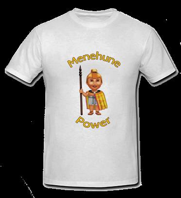 Menehune Power - White T Shirt - Size: Child Medium