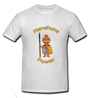 Menehune Power - White T Shirt - Size: Child Large