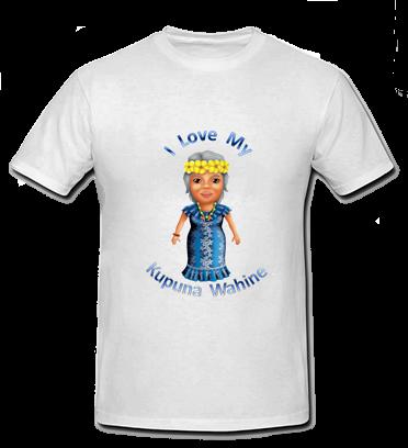 I Love my Kupuna Wahine T Shirt - Size child small