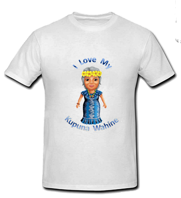 I Love my Kupuna Wahine T Shirt - Size child medium