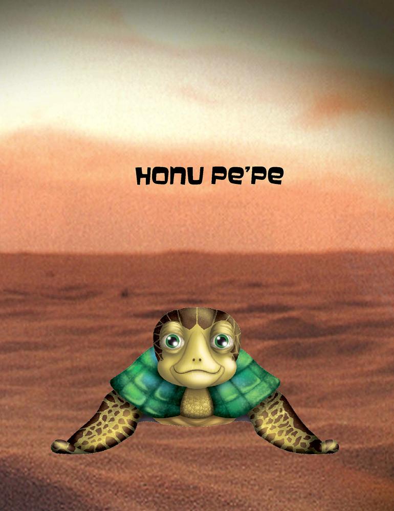 """Honu Pe'Pe Poster 8.5"""" x 11"""""""