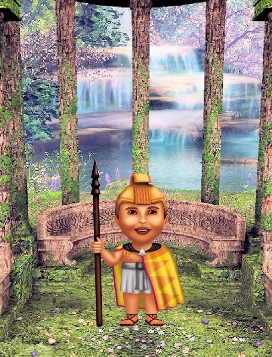 "Keoni - Warrior Poster - 8.5"" x 11"""